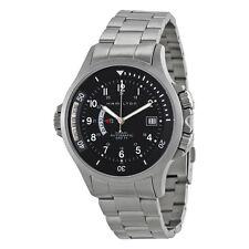 Hamilton Khaki Navy GMT Steel Black Mens Watch H77615133
