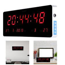 Digital LED Wall Clocks with Calendar Temperature Week Display Auto Correspond