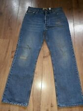 "JOE BROWNS STRAIGHT LEG FADED MED BLUE DISTRESSED LOOK JEANS W36"" L32"""