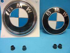 2X GENUINE BMW Hood & Trunk Emblem Roundel OEM# 8132375/3401005 X5 W. Grommets