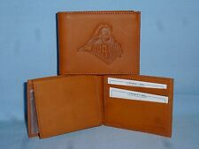 PURDUE BOILERMAKERS   Leather BiFold Wallet   NEW   tan