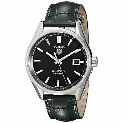 Tag Heuer $2500 Men's Carrera Calibre 5 Automatic Leather Watch War211a.fc6180