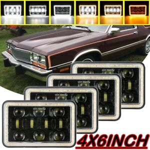 "4PCS 4x6"" Projector LED Headlights Hi/Lo Beam DRL For Ford LTD Mercury Vintage"
