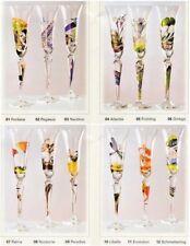 Flutes à Champagne.Flutes NAGEL.Flutes peintes.Verre Peint.Nagel glass.art-glass