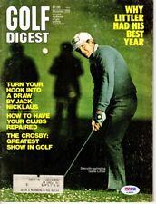 Gene Littler Signed Golf Digest - PSA/DNA Certificate of Authenticity COA