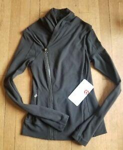Lululemon Bhakti Yoga Jacket black luon define size 4