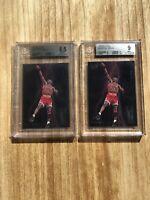 2 x 1993-94 Fleer Ultra Scoring Kings #5 Michael Jordan Insert Cards BGS 8.5 & 9