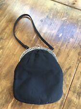 womens handbags and purses/Vintage Bobbie Jerome BlacK Silver Clutch Evening B