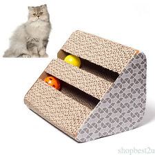 HOT Triangle Scratching Corrugated Cat Scratcher Cardboard for Pet fun