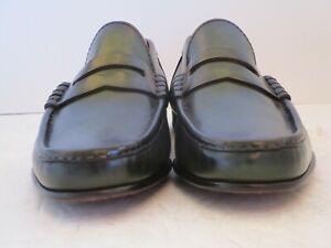Men's $995 NWOB Ralph Lauren Chalmers Italian Burnished Green Loafers Size 7.5 D