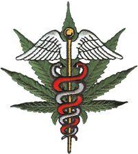 HEMP medical marijuana (leaf/wings) PATCH **FREE SHIPPING** iron/sew on -c p3555