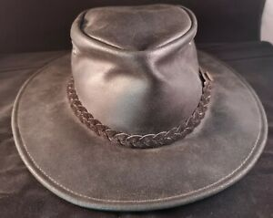 GENUINE LEATHER LARGE HAT / TAYBERRY COMPANY / AUSTRALIA