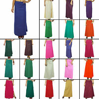 Inskirt Solid Cotton Saree Underskirt Petticoat Skirt Indian Sari Innerwear-PT1P