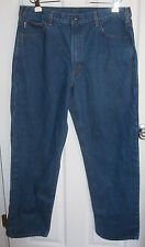 Carhartt Blue Jeans 38x34 Cotton Nylon Blend Snap Front (FR With Tags Cut Off)