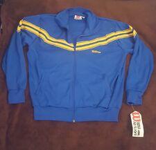 Vintage Wilson Men's Blue & Yellow Striped Tennis Jacket XL NOS w Tags New Sport
