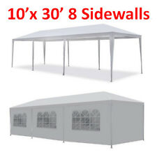 New 10'x30' White Outdoor Gazebo Canopy Wedding Party Tent 8 Removable Walls -8