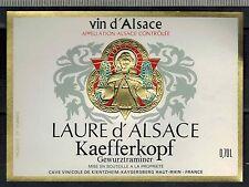 Etiquette de Vin - Laure d' Alsace - Gewurztraminer - Kaefferkopf - Réf.n°319