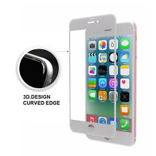 White Full Cover Tempered Glass 3D Curved Screen Protector For iPhone 6 Plus