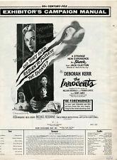 Original • THE INNOCENTS • 1961 • DEBORAH KERR • Uncut • Complete • Unfolded