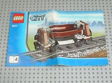 Notice Building instruction booklet N°4 LEGO CITY TRAIN set 3677 Red Cargo Train