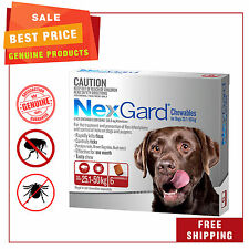 NEXGARD NEXGUARD for Dogs 25.1 - 50 Kg RED Pack 6 Chews Flea and Tick Treatment
