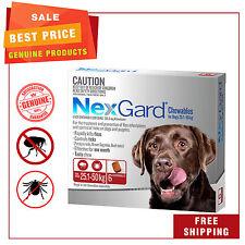 NEXGARD Nexguard for Dogs 25.1 - 50 Kg Red Pack 6 Chews Flea and Tick Treatment