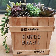 Wooden Garden Planter Plant Flower Succulent Pot Trough Box Wood Case Bed Decor