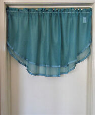6P WHOLESALE DEAL Sheer Double Ruffled Window Valance Topper Waterfall (CHELSEA)