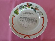 Christmas Mincemeat Platter Plate Royal Winton Pottery Staffordshire.