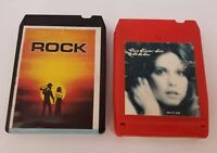 Olivia Newton-John 8 Track Tapes Set of 2 Let Me Be There Don't Stop Believin