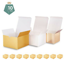 10 Gift Boxes with Lid Textured Finish Paper Bridesmaid Wedding Party 6x6x4''