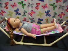 "HAMMOCK  fits American Girl & all 18"" dolls play set Gymnastic set - Purple"