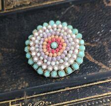 Vintage Art Deco dress clip, glass micro bead