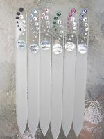 "Mont Bleu Crystal Glass Nail File Comet  using Swarovski Crystals 5 1/2"" NEW"