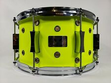 Pork Pie Little Squealer Vented Maple / Birch Snare Drum 7x13 Neon Yellow