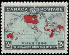 Canada #86 mint VF+ OG NH 1898 Map/Xmas 2c black,blue & carmine CV$180.00