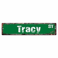 SMNS0291 TRACY Street Chic Sign Home Man Cave Wall Decor Birthday Gift