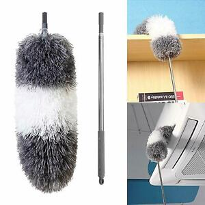 BOOMJOY L7P Microfiber Telescoping Duster Extendable Stainless Steel Pole