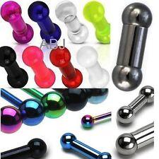 Steel Titanium Acrylic HEAVY/LARGE GAUGE TONGUE/Nipple/Prince Bars