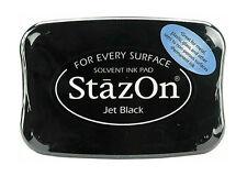 StazOn Solvent Ink Pad JET BLACK SZ-31 Tsukineko Sealed Brand NEW!