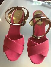 Coach henley pink wedges 6B - Gently Used