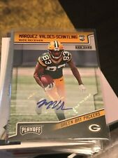 Marquez Valdes-Scantling 2018 Playoff Rookie Auto Red Zone packers! kxv3