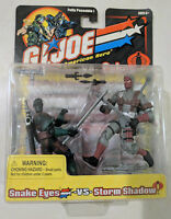 GI Joe vs Cobra Snake Eyes vs Storm Shadow Figure Set (gray storm shadow) NIB cZ