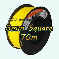 70m of Genuine STIHL 3mm SQUARE Brushcutter Strimmer Trimmer Cord Line Wire