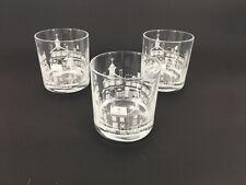 Highball Glasses set of 3 Olde Philadelphia Society Hill Great Condition Barware