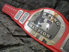 NEW ! Beer Pong Championship Belt King Adult Size Metal Plates Very Nice