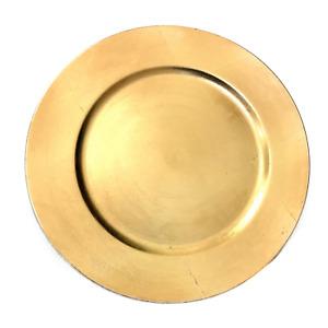 Platzteller Teller Unterteller Deko Teller  Gold Hochzeit Event 33cm dekowelten