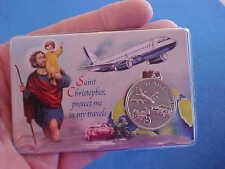 ST CHRISTOPHER ARCHANGEL ST MICHAEL Saint Medal Laminated Prayer Card Travel
