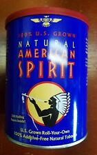 Older Natural American Spirit, Empty Round Tin Can - excellent condition