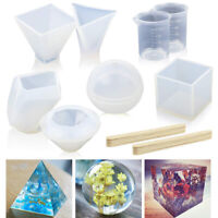 18PCS DIY Silicone Mold Making Jewelry Pendant Resin Casting Mould Craft Too Hu